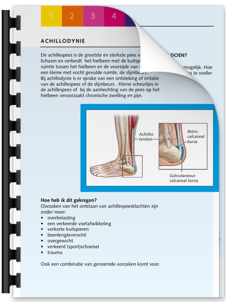 Achillodyne brochure | Podotherapie Eemland