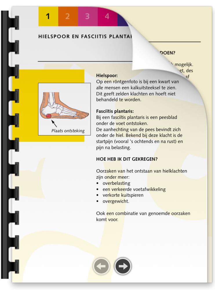 Hielspoor brochure | Podotherapie Eemland