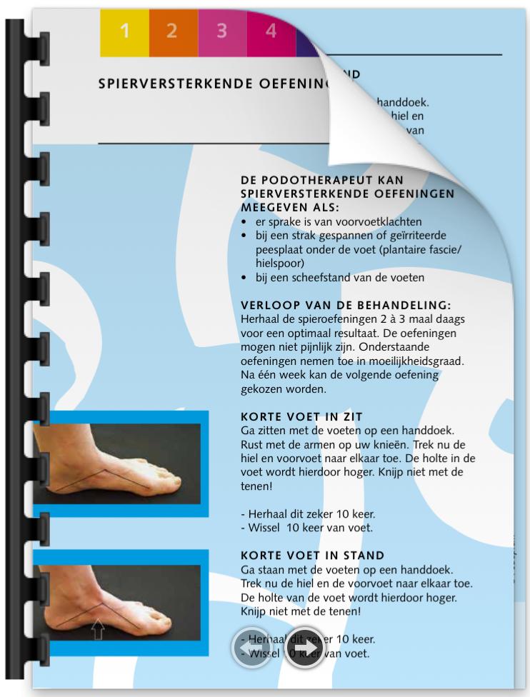 Spierversterkende oefeningen brochure | Podotherapie Eemland